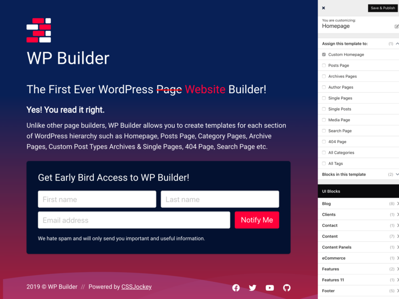 WP Builder - Coming Soon