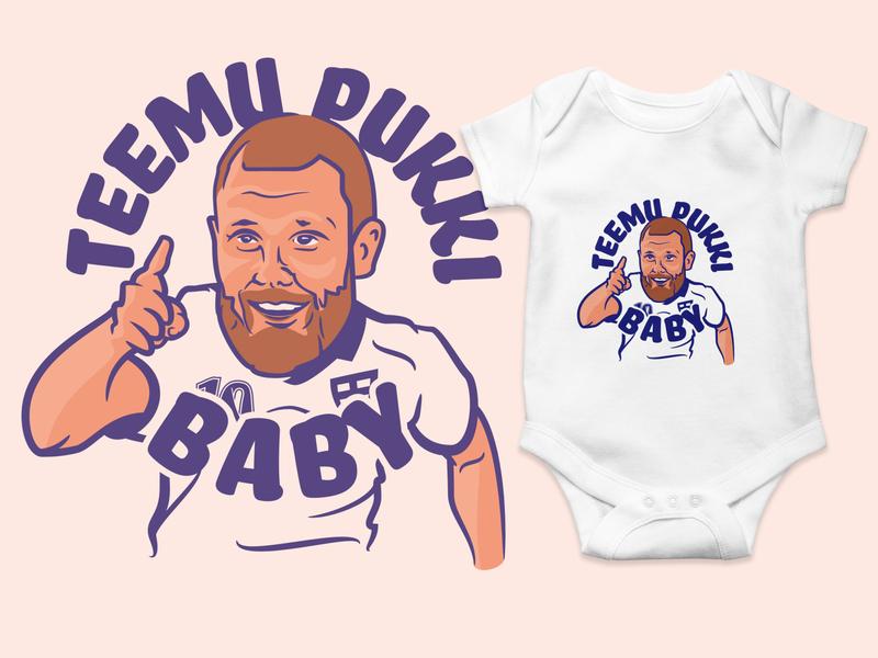 Teemu Pukki Baby custom baby body design character body baby teemu pukki