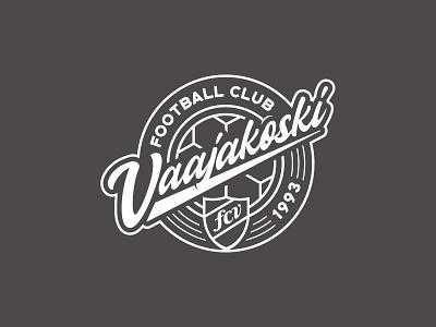 FC Vaajakoski Badge logo design branding merchandise football soccer finland design logodesign logo sports badge