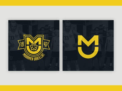 Logo for Muuramen Urheilijat Sports Club basketball crest emblem logo design logodesign logo sports