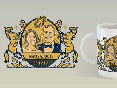 Tasteless Royal Mug for Friends' Wedding badge design badges badge illustration