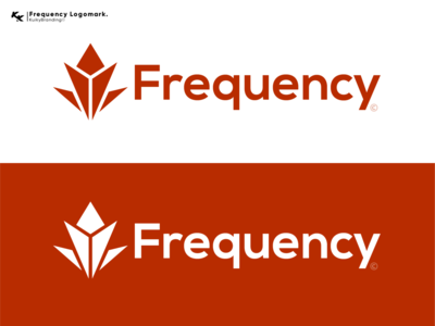 Frequency Logomark. visual identity art minimal illustrator flat vector logo icon design branding