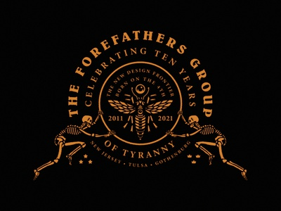 Forefathers 10 Year Anniversary logo designer web design graphic design 10 year anniversary branding illustration website forefathers