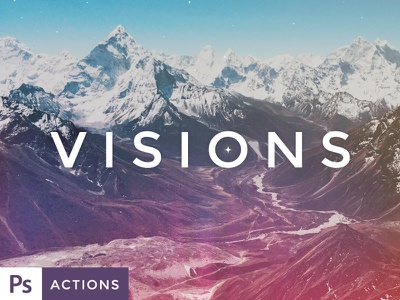 VISIONS Actions and Texture Set Vol. 2 photoshop actions actions textures texture filters photography action photos photo retouching presets forefathers