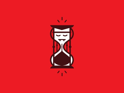 SS02: Get Rid of Your Time Vampires forefathers agencies freelancers red hourglass icons time vampire blood illustration icon blog post