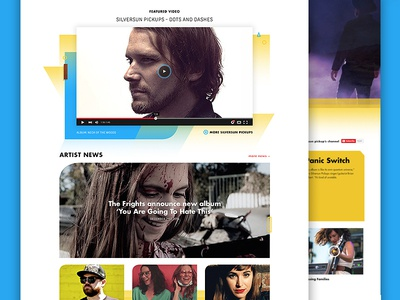 Dangerbird Records Website Design forefathers landing page site homepage label records bands website