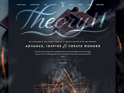 theory11.com is live! web design ux design ecommerce magic theory11 website