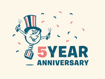 5 Year Anniversary Designs Themes Templates And Downloadable Graphic Elements On Dribbble