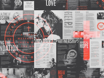 Leading The Way - 2016 Report forefathers overlays typography type design layout magazine zine print annual report