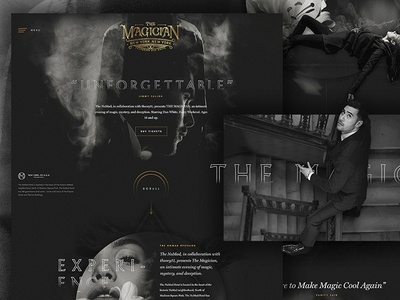 The Magician Website theory11 forefathers matte mystery magic texture dark ui ux web homepage website