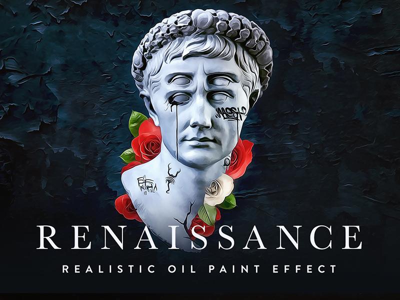 RENAISSANCE - Realistic Oil Paint Effect forefathers renaissance actions filters painting paint photoshop actions photoshop oil paint oil painting