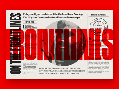 Leading The Way Annual Report 2017 type design typography type red bold zine ministry newspaper editorial grid print annual report