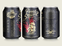 13 Stripes Brewing - Peggy Stewart Porter Can Design