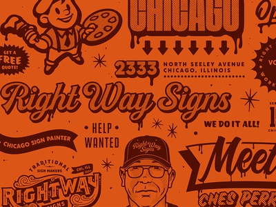 Right Way Signs Print Pattern