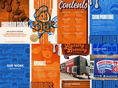 Right Way Signs Print Brochure forefathers chicago blue orange cover branding illustration print design zine print brochure