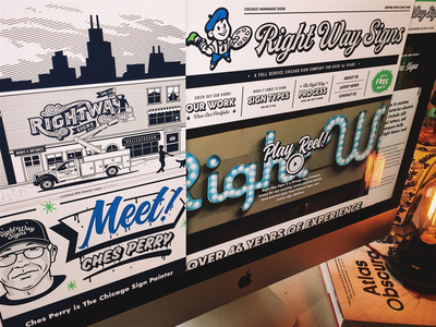 Right Way Signs Website forefathers chicago sign painting websites site design ux signage signs homepage website web