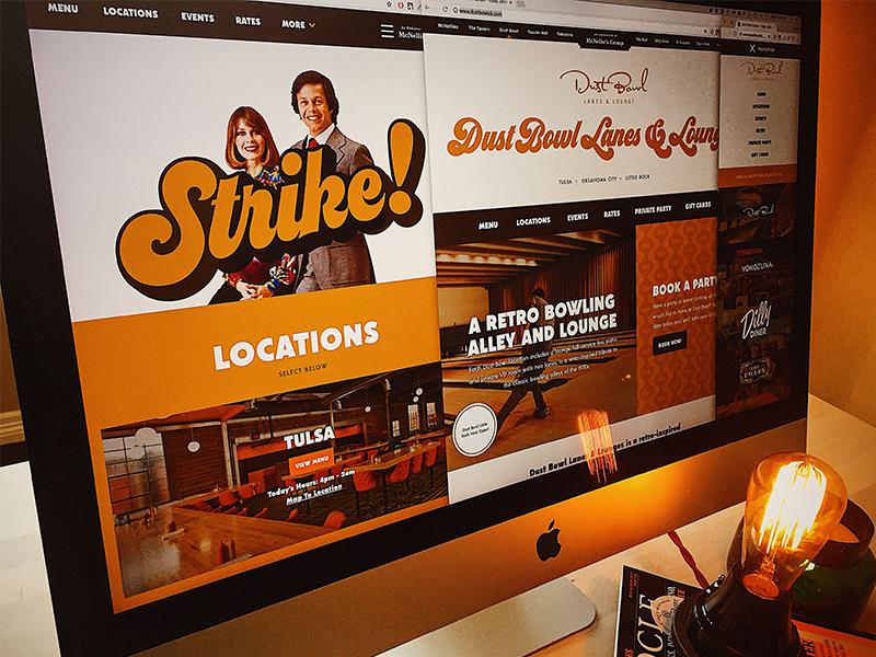 Dust Bowl Lanes & Lounge - Website Launch! forefathers responsive websites bowling dust bowl homepage ux pattern vintage retro website web