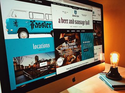 Fassler Hall German Beer Hall - Website Launch forefathers responsive websites beer sauage fassler homepage ux german texture website web