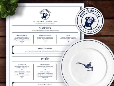 Bird & Bottle Opening Week! forefathers tulsa bottle bird bars logo design logos menu design menu restaurant branding brand