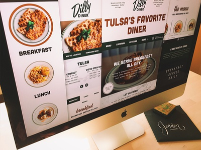Dilly Diner - Website Launch! forefathers tulsa retro ux design ux brands brand lunch breakfast diner website