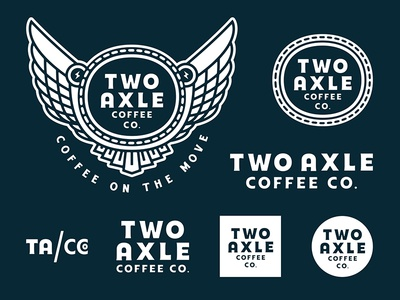 Two Axle Coffee Now Open! forefathers philadelphia brands logo design brew coffee responsive branding branding brand logo