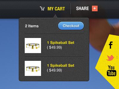 Lil' Checkout checkout button shop yellow blue forefathers