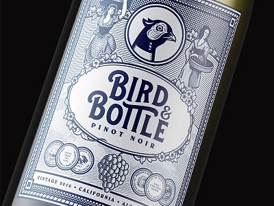 NEW WORK: Bird & Bottle forefathers identity illustration restaurant menus wine labels label web design website design system branding brand