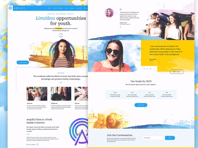 Amplify Website brand identity brand annual report annualreport non-profit nonprofit charity community organization foundation ux design uxdesign ux website design web design webdesign websites website