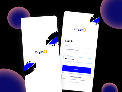 Crypto Sign Up screen uidesign financial finance app fintech cryptocurrency crypto wallet bitcoin sign in ui mobile ui