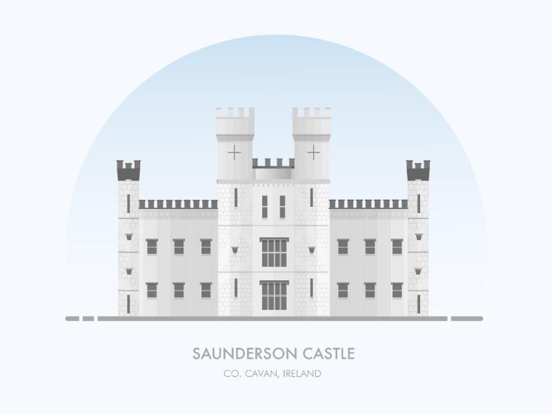 Saunderson Castle illustrator illustrations building artwork vector design illustration