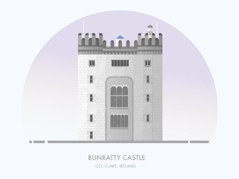 Bunratty Castle design illustration illustrator illustrations building