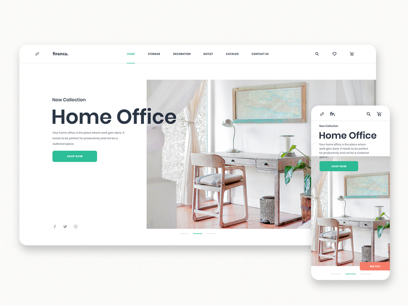 Furniture E-Commerce Shop App app interface landing ecommerce shop clean dashboard webdesign shoping home office typography interior furniture shop furniture landing page store shopify ecommerce
