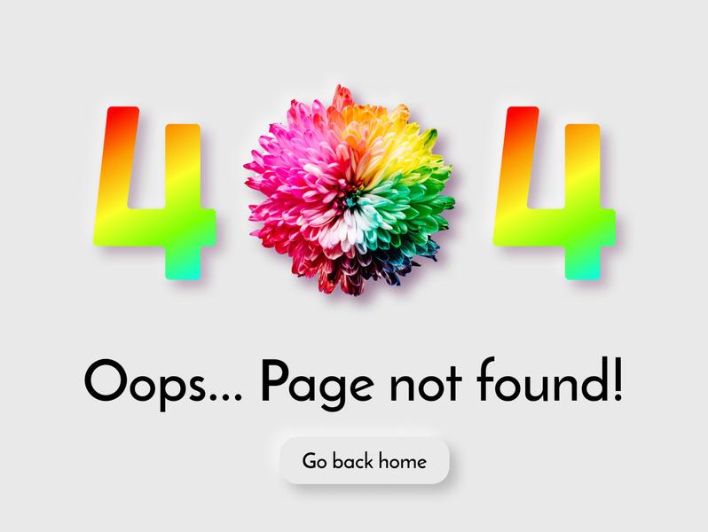 404 Error page - DailyUI #008