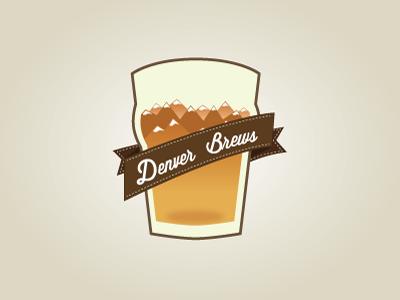 Beer Logo beer brew denver mountains