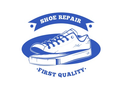 Shoe Repair Logo design identity mark badge retro download resource shop shoe branding brand logo