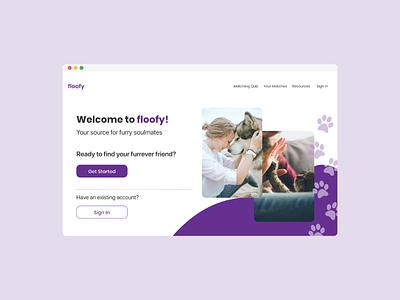 Pet Adoption Landing Page design web ux ui