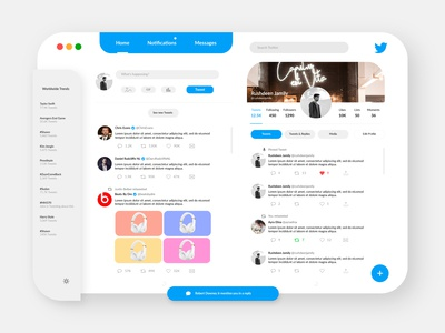 Twitter For iMac/iPad Pro Concept
