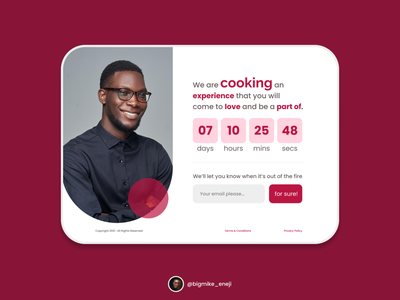 Countdown Web Page - 014 014 coming soon uiux dailyui design product design ux ui