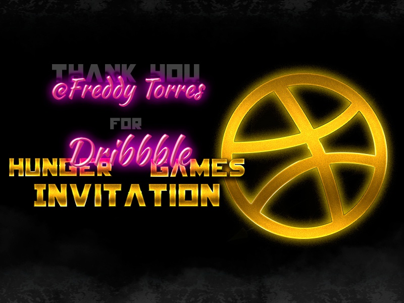 Thanks @Freddy Torres  debut first shot invite invitation thank you dribbble