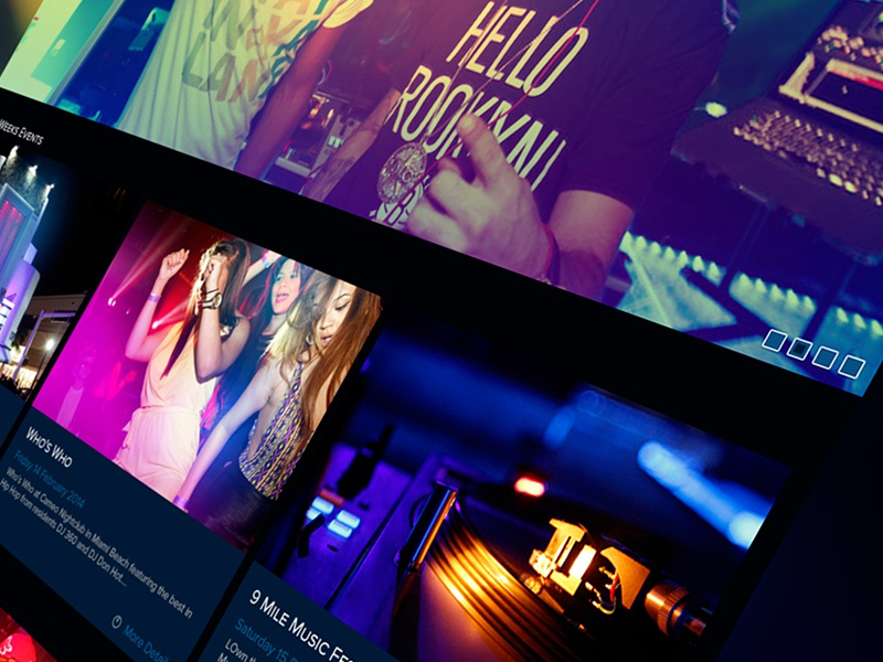Cameo Nightclub Refonte ui ux webdesign navigation refonte draft interface nightclub