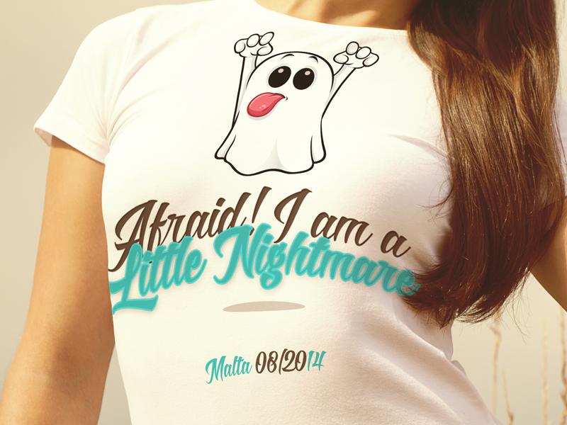 Tshirt 01 malta design art tshirt ghost nightmare funny
