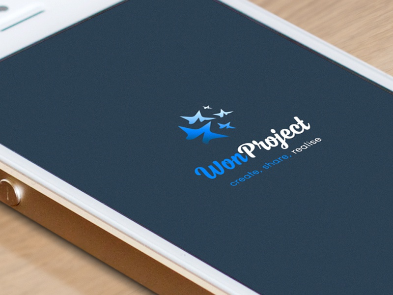 Won Project app design logo ux concept application ui