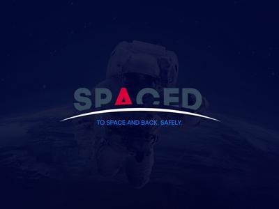 SPACED Homepage blue ux ui travel spacedchallenge spaced space moon