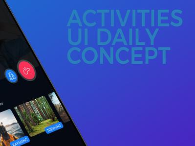 Mockup Activities Little design application app ui