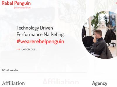 Concept Rebel Penguin web concept application ux design app ui