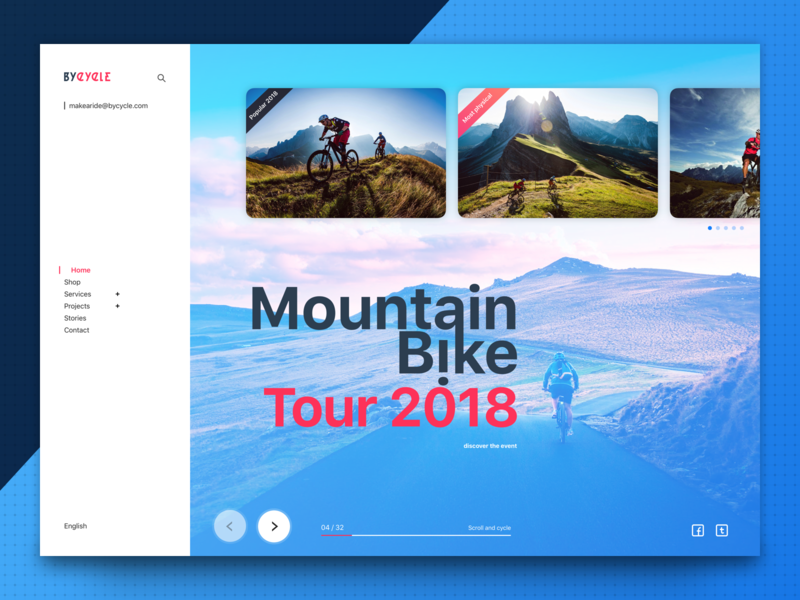 ByCycle bikes event ux concept application app ui design