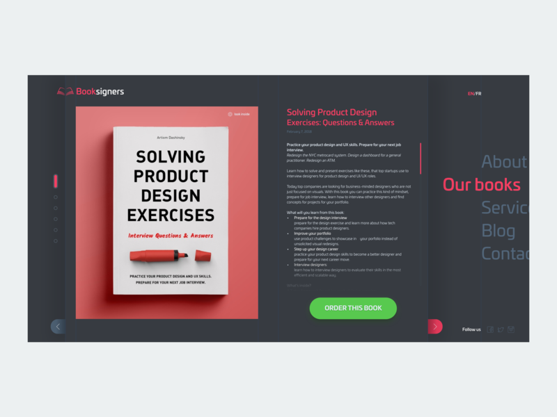 Daily Ui 03 - Landing Page bookstore dailyui concept ui ux app design