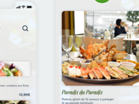 Mobile app restaurant 'Paradis du Fruit'
