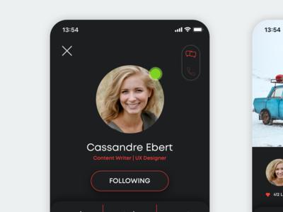 Daily Ui 06 - User Profile card dailyui concept ux app ui design