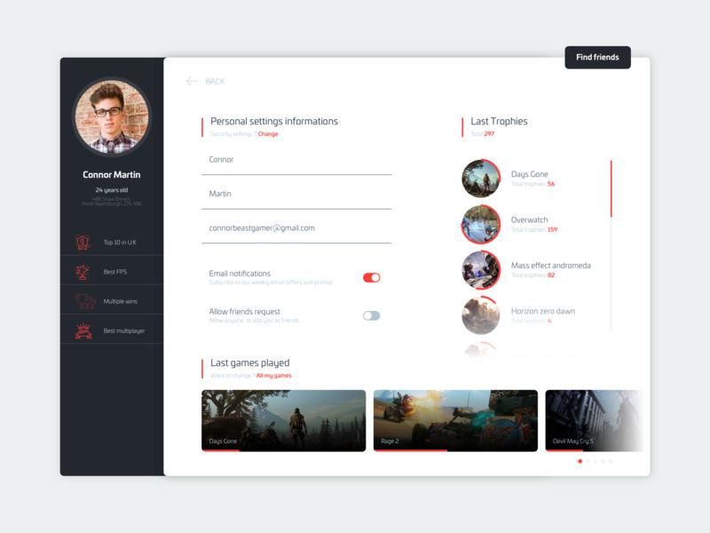Daily Ui 07 - Settings application dailyui concept ui ux design app
